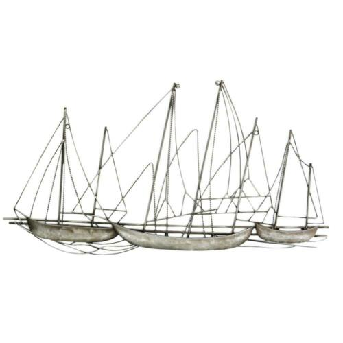 Stratton Home Decor Grand Sailboat Wall Decor Antique Classy Vintage Style Metal