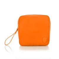 Heys 12044 Hilite Square Orange Nylon Toiletry Kit