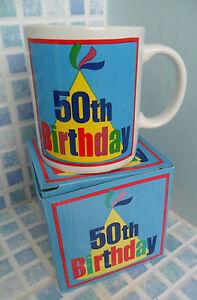 BOXED-50TH-POTTERY-GIFT-MUG-BNIB