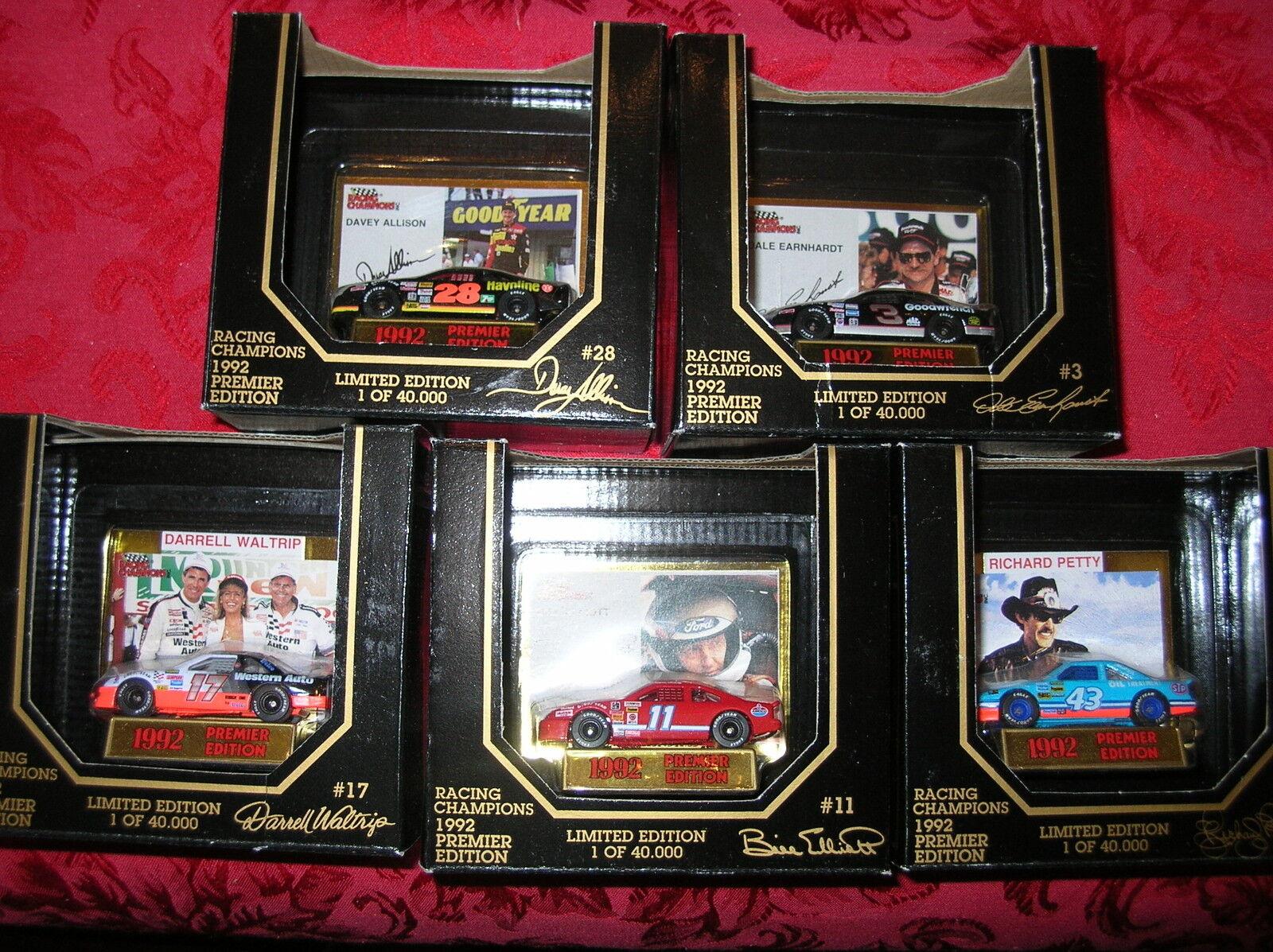 NASCAR diecast RC Premier 92 Dale Earnhardt Davey Allison Richard Petty Waltrip