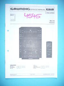 service manual grundig mini 10 ravenna hi fi system original ebay rh ebay com mini drone cx 10 manual mini 14 manual pdf