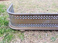 Vintage Brass antique metal Fireplace FENDER GUARD Ball feet tool screen