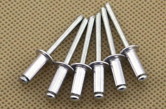 10x M5 Aluminum Blind Rivets Pop Rivets Dome Head Open End Cap Diameter 16mm