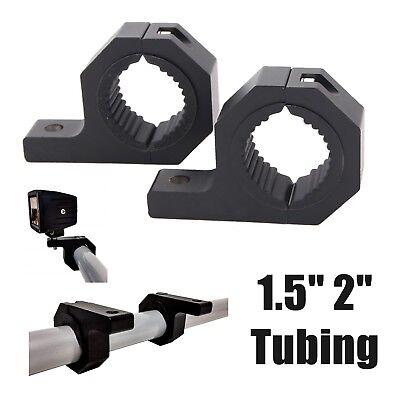 "2 PC LED MOUNT BRACKET LED LIGHT CLAMP FOR ROOF ROLL CAGE BAR 1.5/"" 2/"" TUBE 4X4"