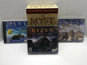Myst Trilogy PC/Mac GAME Box CD-ROM MYST RIVEN MYST III EXILE