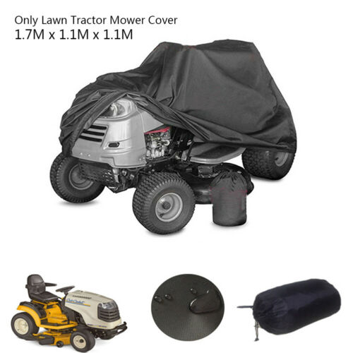 Ride On Lawn Mower Tractor Cover Garden Yard UV Protection Waterproof Black