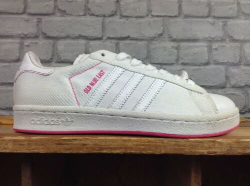 Old Blue 38 Canvas Leather Eu Uk Vice Trainers Pink Adidas Ladies Last White 5 1Raw04Y