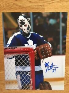 the latest 3261a e806c Details about Toronto Maple Leafs Mike Palmateer signed 8x10 W/COA pose 3