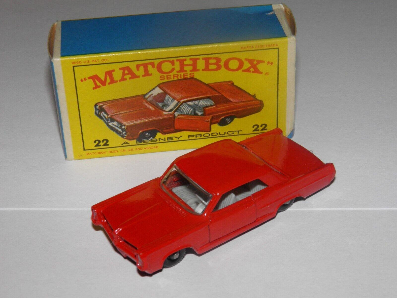 Matchbox 22 Pontiac Coupe MIB EXCELLENT rot  BPW E Box