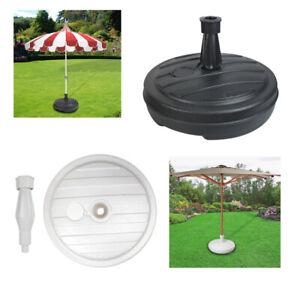 2 x White Guaranteed4Less Parasol Umbrella Base Stand Sand Water Plastic Pole Garden Beach Patio Sun Shade