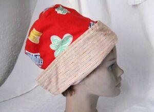Belle Superbe Fille Tissu-casquette Capuchon Chapeau Cousus éventuellement Moyen âge écolière Rouge Coloré-afficher Le Titre D'origine Effet éVident
