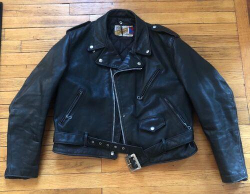 Vintage Men's Schott Perfecto Black Leather Motorc
