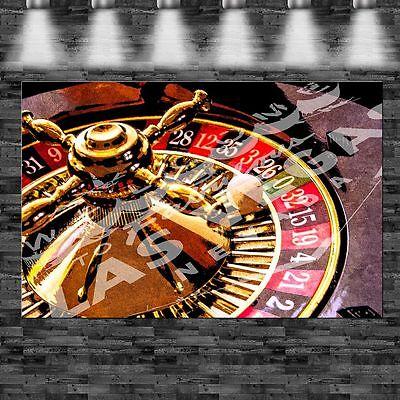 XXL Roulette Las Vegas Casino auf Leinwand Keilrahmen Loft Design