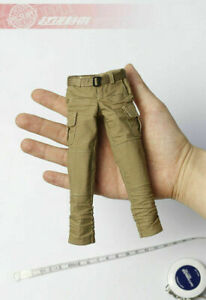 1-6-Female-Soldier-Military-Tactical-Khaki-Pants-clothes-Model-Fit-12-039-039-Figure