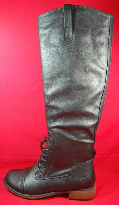 Women's DIRTY LAUNDRY COMP FIRE Black Zip Up Riding Casual/Dress Boots NEW