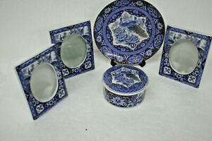 Royal-Peacock-Jamestown-China-Made-in-Japan-for-Action-Industries-Inc-5-pieces