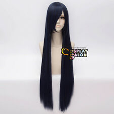 100CM Long Straight Women Dark Blue Party Hair Anime Cosplay Wig Basic Style