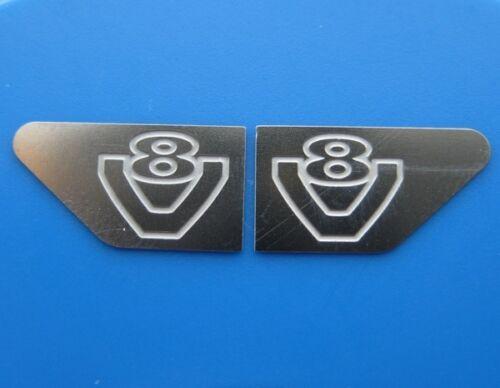 Für Tamiya Scania Truck V8 Logo badges Emblem Decal Edelstahl seitlich 1:14 1//14