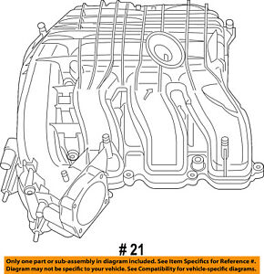 dodge chrysler oem 11 17 charger 3 6l v6 engine intake manifold rh ebay com chrysler 3.3 engine diagram chrysler 300 engine diagram