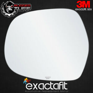 Driver Side Rear View Mirror Glass Replacement Left Hand Fits 2003-2009 Lexus GX470 Toyota 4Runner by exactafit 8106L Adhesive Install