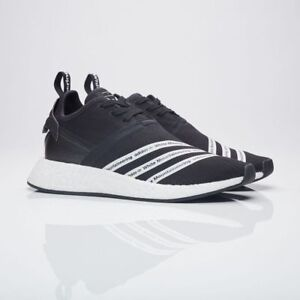 premium selection 34f34 d1a8d Details about BB2978 Adidas Men White Mountaineering NMD R2 Primeknit black  footwear white 7