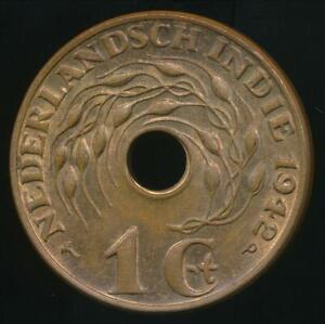 Netherlands-East-Indies-Wilhelmina-I-1942-p-1-Cent-Uncirculated