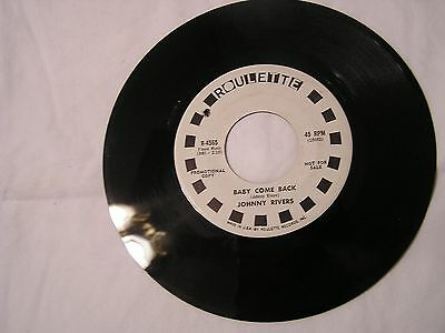 Johnny Rivers  Promo 45-BABY COME BACK/LONG WALK HOME