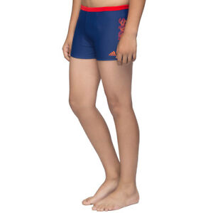 4d68be0c91 Adidas Boys Swimming Linear SWIMWEAR BX 3S Trunks Junior Boxers 5-6 ...