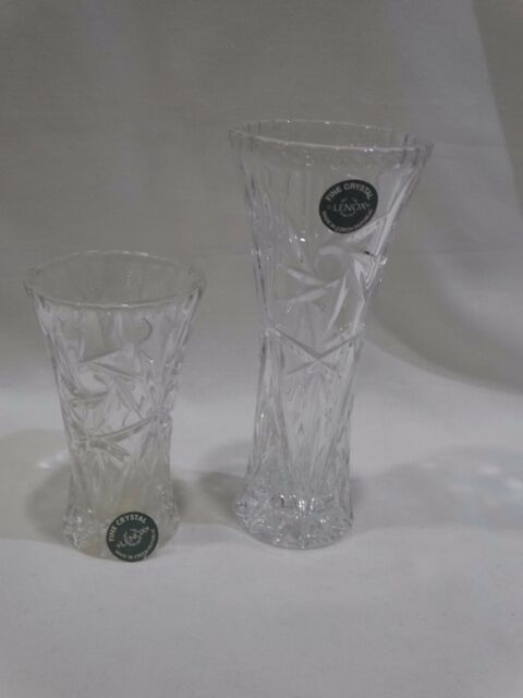 Lenox Full Lead Crystal Glass Star Flower Bud Vase 6 Czech Republic