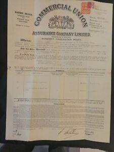 1938-Singapore-COMMERCIAL-UNION-ASSURANCE-CO-LTD-policy-workman-039-s-compensation