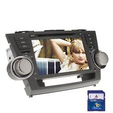 "8"" 2Din Car Stereo DVD Player GPS Navi for Toyota Highlander 2008-2012 +Map Card"