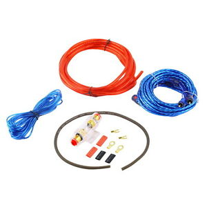 8 gauge amp kit amplifier install wiring complete 8 ga installation rh ebay com