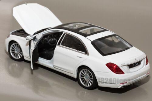 modelo de coche para Adultos Regalo Welly Escala 24051 Mercedes-Benz Clase S Blanco 1:24