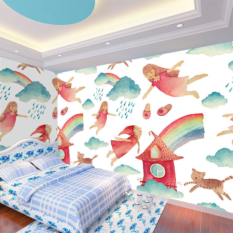 3D 3D 3D Girl Rainbow 846 Wallpaper Mural Wall Print Wall Wallpaper Murals US Lemon 95ece7