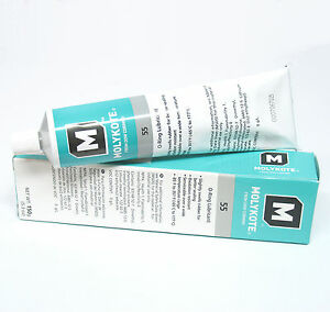Details about DOW CORNING MOLYKOTE 55 O-Ring Silicone Grease Lubricant Lube  5 3 oz Tube