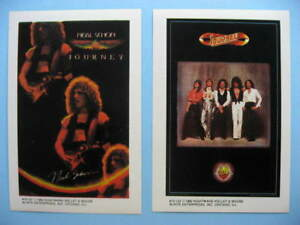 JOURNEY-NEAL-SCHON-1980-Mini-Poster-Photo-Stickers-2-Different-near-MINT