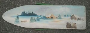 Painting-on-Vintage-Ironing-Board-Winter-Farmhouse-Decor-Signed-by-Another-Emmy