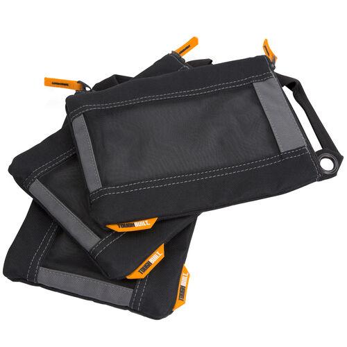 ToughBuilt Fastener Bags Heavy Duty Mesh Windows Quick Carry Handles 3 Pack