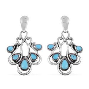Southwest-Dangle-Drop-Earrings-925-Sterling-Silver-Turquoise-Jewelry-for-Women