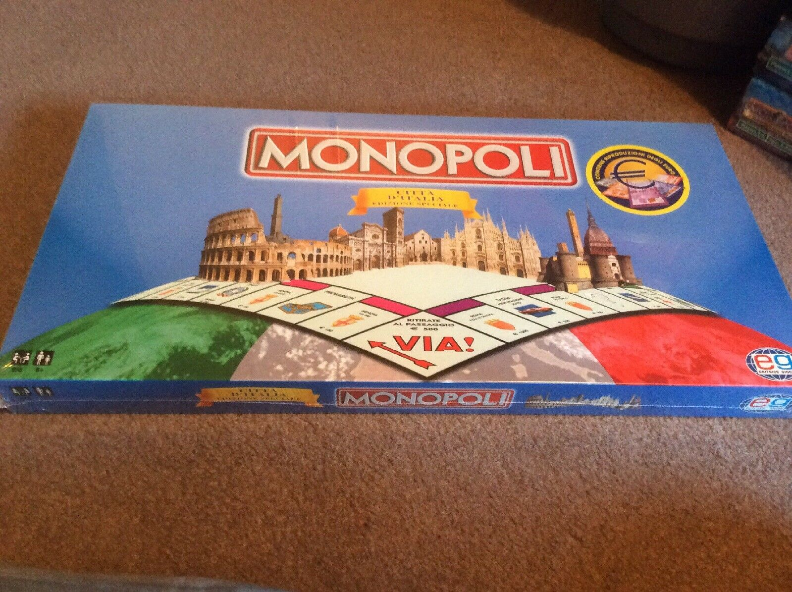 Monopoli - Italian City Special Edition Monopoly Game Game Game New And Sealed 0628e2