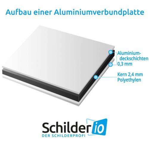 """Hinweisschild 300x200 mm /""""Privatparkplatz/"""" Aluminiumverbundplatte 3mm"""