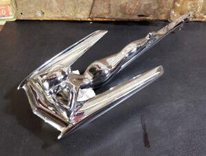 Topper auto hood ornament mascot Harley Hog Pig motorcycle sanded aluminum USA