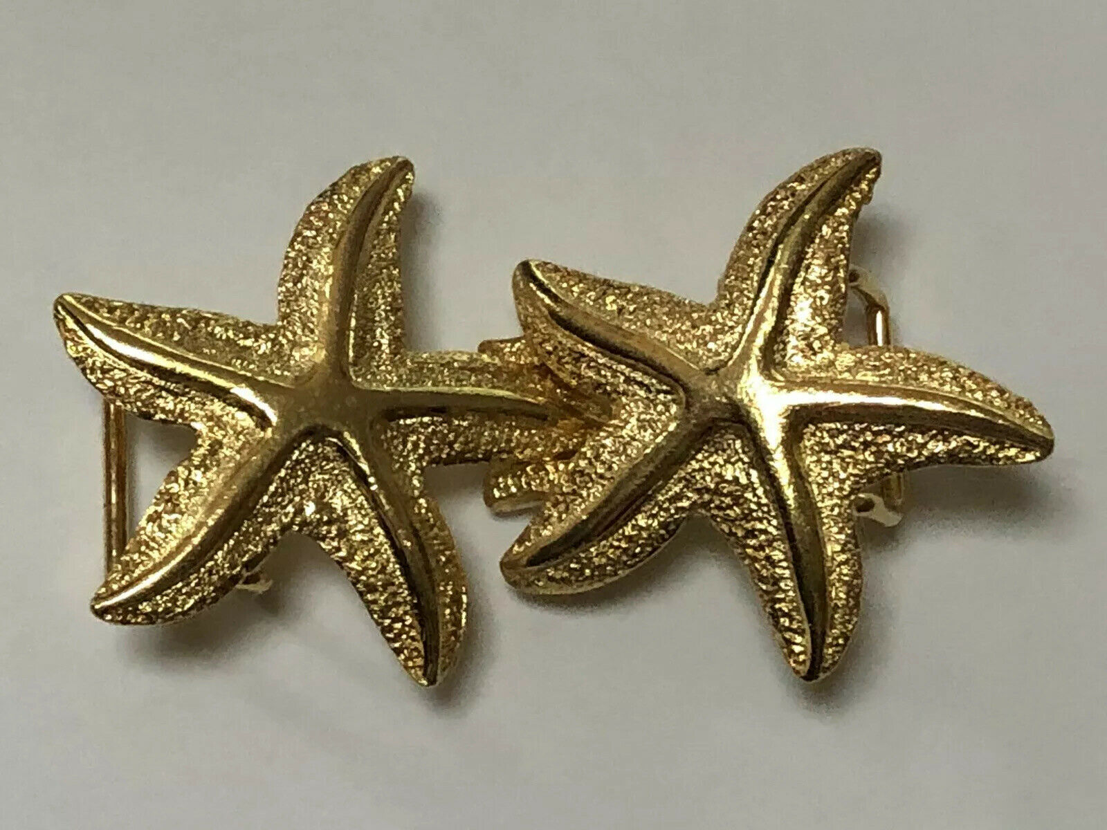 Lot of 100+ NEW Women's Gold Plated 2 pc STARFISH BELT BUCKLES Below Wholesale!