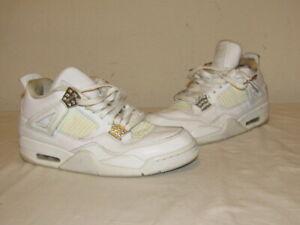 Nike-Air-Jordan-Retro-IV-4-Pure-Money-White-Metallic-Silver-Size-8-5-308497-100
