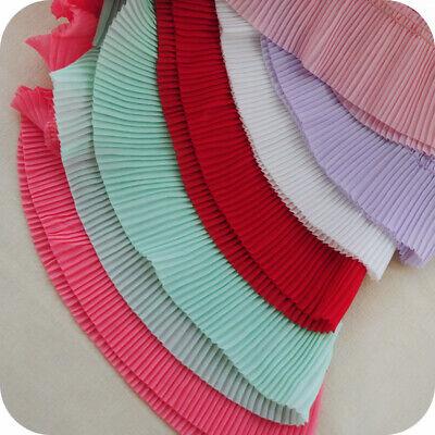2yds Chiffon Ruffle Lace Trim Black White Pleated Edge Ribbon Fabric 2.36/'/'Width