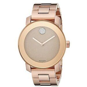 Movado 3600335 Women's Bold Rose Quartz Watch