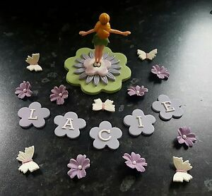 Image Is Loading EDIBLE TINKERBELL CAKE TOPPER DECORATION SET BIRTHDAY