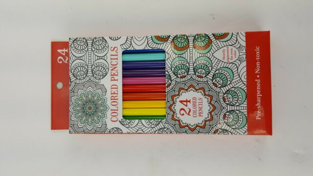 Leisure Arts 24 Colored Pencils Heavily Pigmented Pre ...