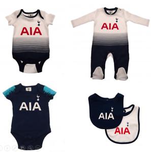 brand new 8d737 ee178 Details about Tottenham Hotspur Baby 2018/19 Kit Design Kit Baby grow  Sleepsuit Vest Spurs New