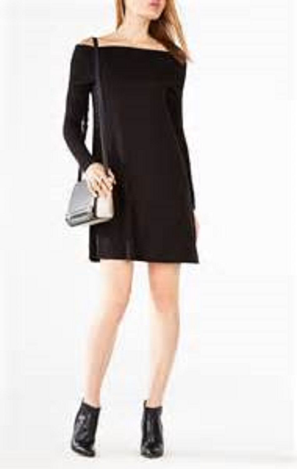 BCBG MAXAZRIA Abril schwarz Off The Shoulder Dress Small  SOLD OUT